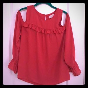Loft outlet cold shoulder blouse